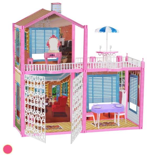 Дом с открывающимися воротами Bondibon (с куклами и мебелью)