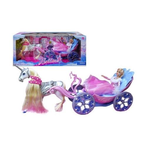 Игровой набор Bondibon Карета с лошадью и куклой