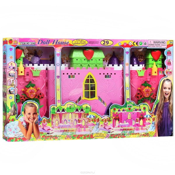 Раскладной дом для куклы BONDIBON - 29 деталей
