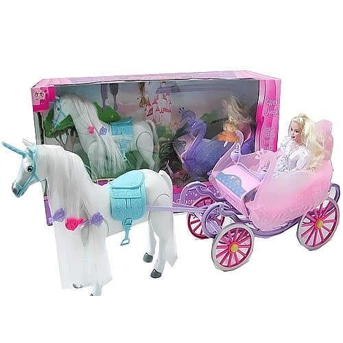 Купить Игровой набор Zhorya Лошадь, карета, принцесса в интернет магазине игрушек и детских товаров