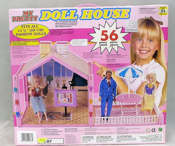 Кукольный дом с мебелью Bondibon Д5855 Dream House - 52 детали