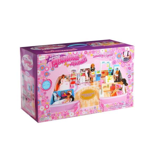 Игровой кукольный домик ZHORYA (с куклой и мебелью)