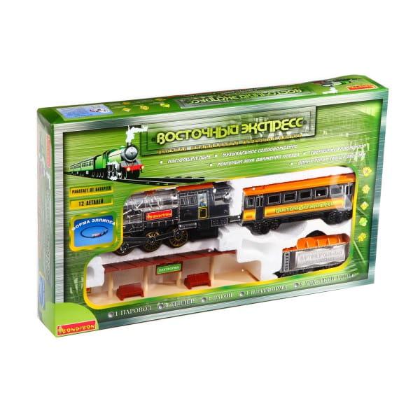 Купить Железная дорога Bondibon Восточный экспресс - 12 деталей в интернет магазине игрушек и детских товаров