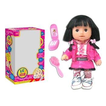 Говорящая кукла Zhorya с телефоном и расческой 3