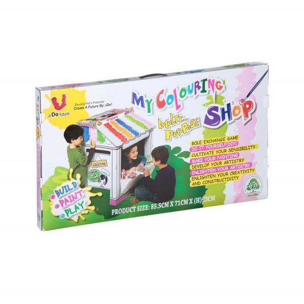 Игровой домик-конструктор картонный U Do Future Магазин
