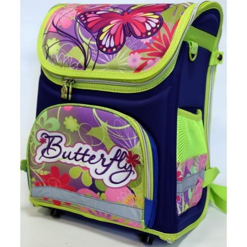 Ортопедический ранец-рюкзак Edu-Play Бабочки - сине-зеленый