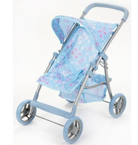 Металлическая коляска для кукол Melogo Д16826 с козырьком и багажником 2