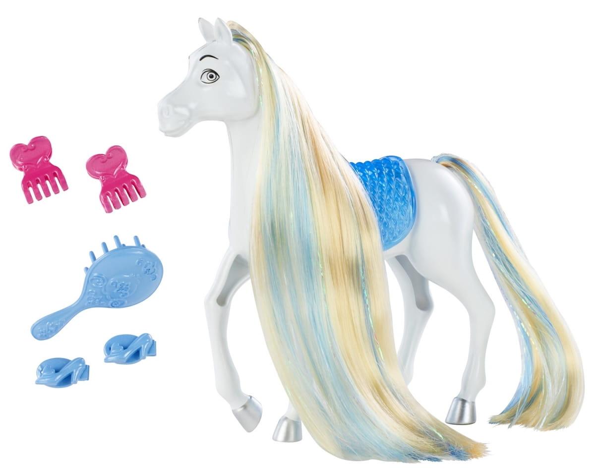 Лошадь Disney Princess BDJ53 Создай прическу - Лошадь Золушки (Mattel)