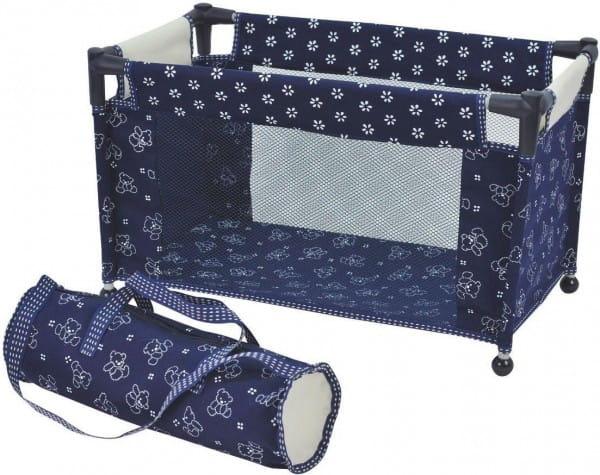 Купить Складывающаяся кровать-манеж для куклы Royal Dimian (с чехлом) в интернет магазине игрушек и детских товаров