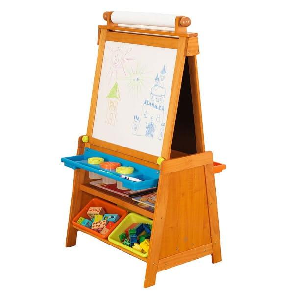 Купить Детский мольберт Kidkraft с системой хранения в интернет магазине игрушек и детских товаров
