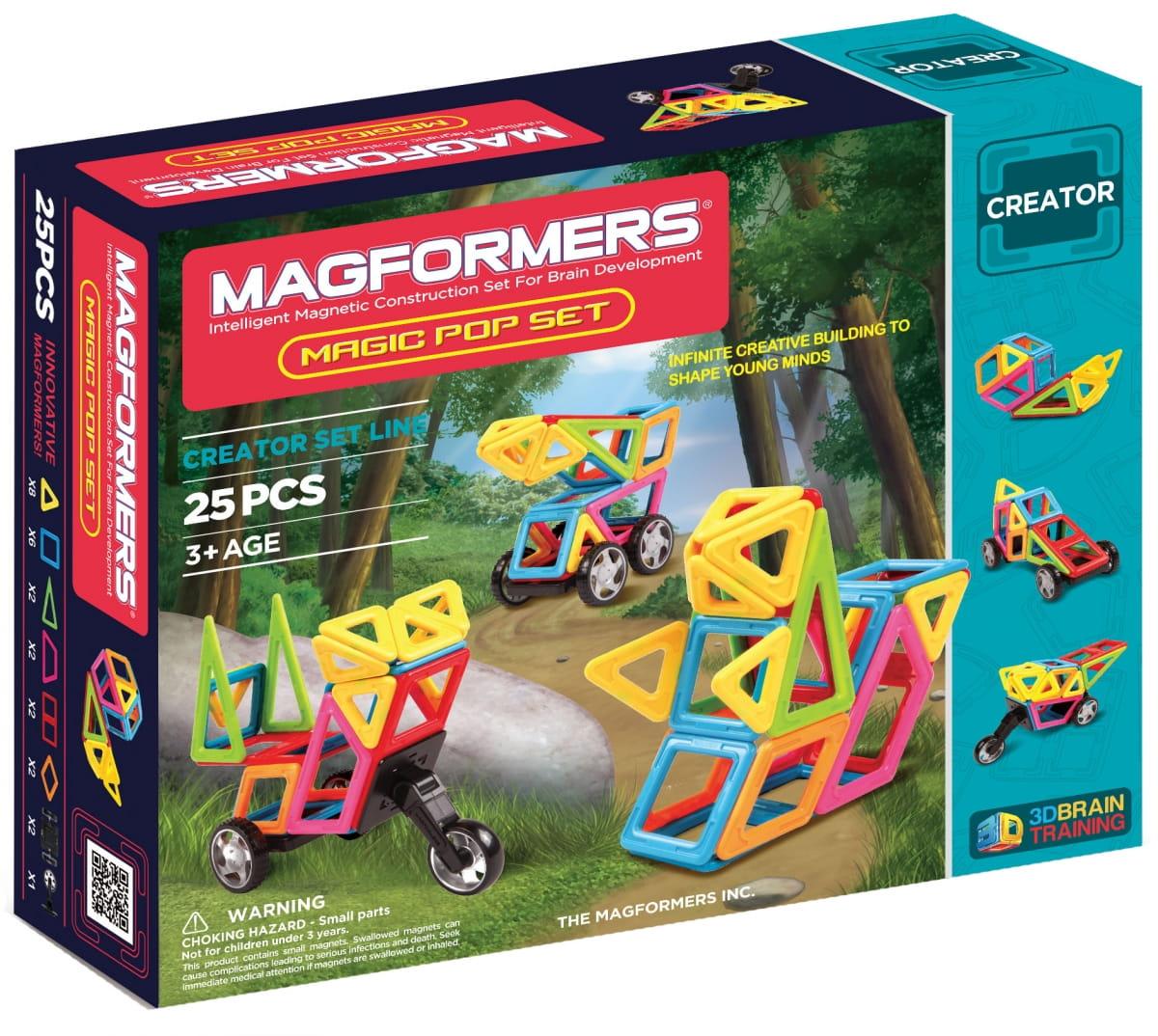 Магнитный конструктор Magformers 703005 (63130) Magic Pop (25 деталей)