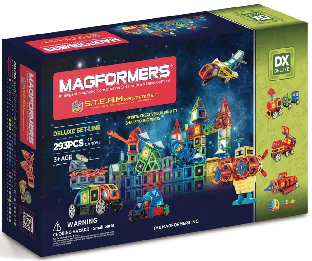 Магнитный конструктор Magformers 710007 (60506) Steam Master (293 детали)