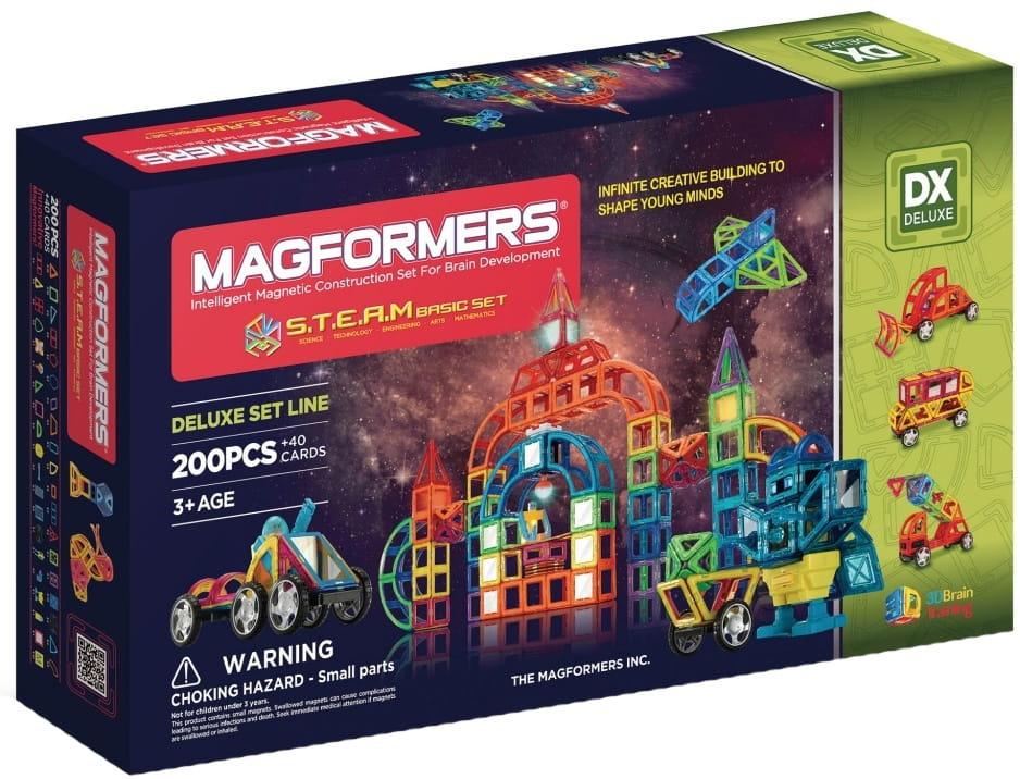 Магнитный конструктор Magformers 710008 (60507) Steam Basic (200 деталей)