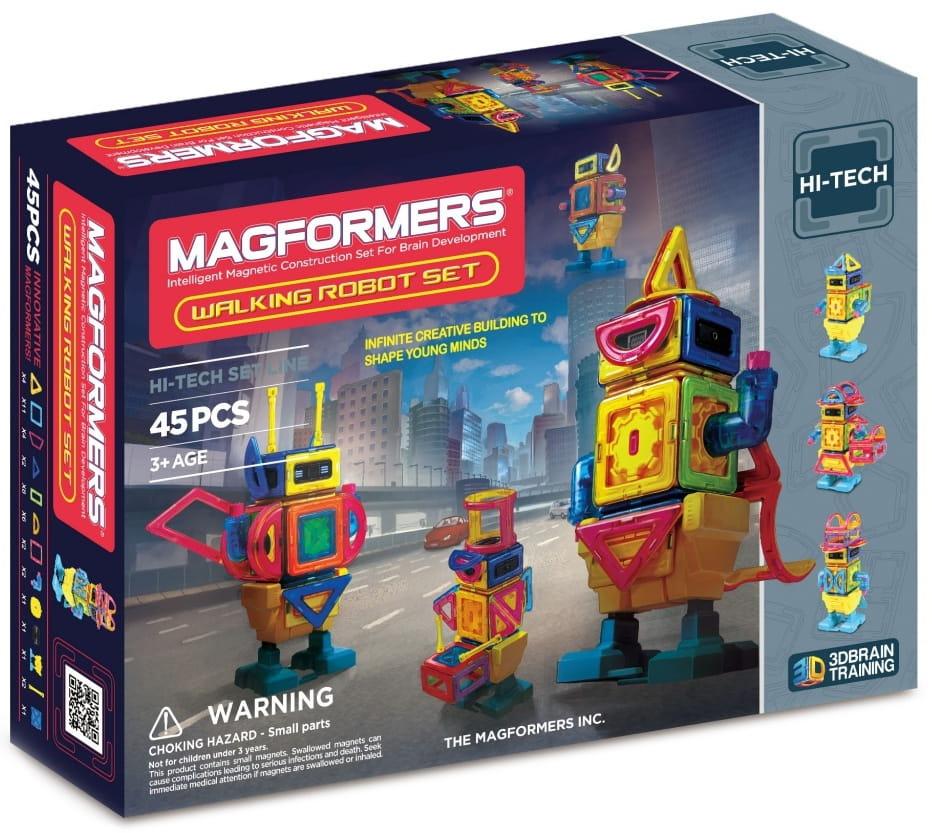 Магнитный конструктор Magformers 709004 (63137) Wolking Pobot (45 деталей)