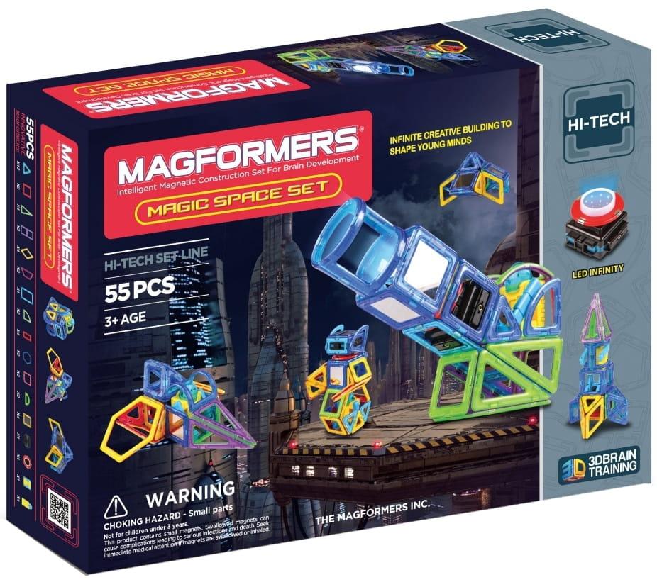 Магнитный конструктор Magformers 709005 (63140) Magic Space (55 деталей)