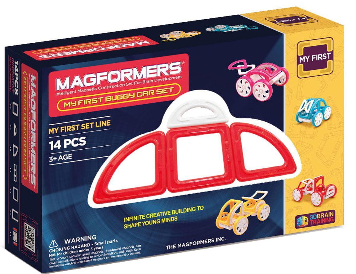 Магнитный конструктор Magformers 702006 (63145) My First Buggy Car - красный (14 деталей)