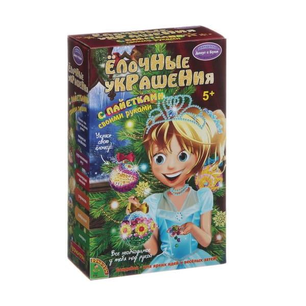 Купить Набор для творчества Bondibon Елочные украшения с пайетками (3 шарика) в интернет магазине игрушек и детских товаров