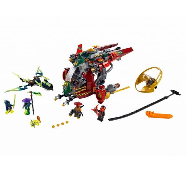 Купить Конструктор Lego Ninjago Лего Ниндзяго Корабль R.E.X Ронана в интернет магазине игрушек и детских товаров