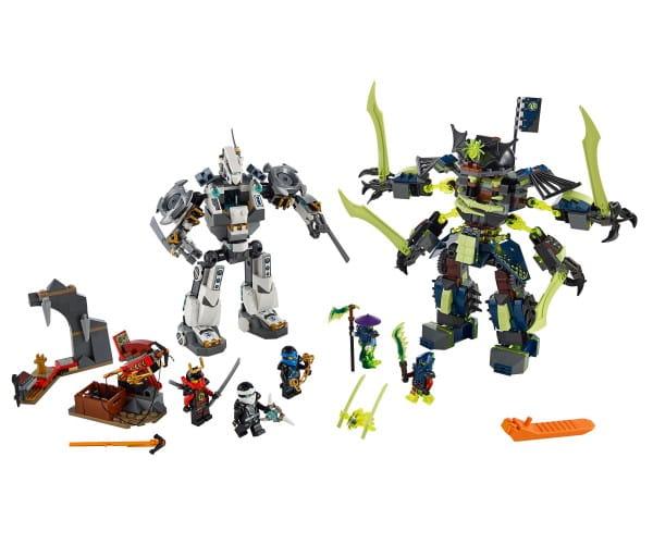 Купить Конструктор Lego Ninjago Лего Ниндзяго Битва механических роботов в интернет магазине игрушек и детских товаров