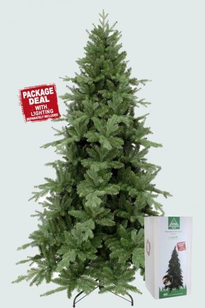 Купить Ель Triumph Tree Ноттингемская - 215 см (с гирляндой на 700 ламп) в интернет магазине игрушек и детских товаров