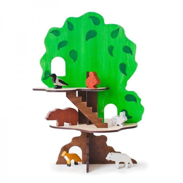 Конструктор Paremo Дом-дерево (с 6 фигурками животных)