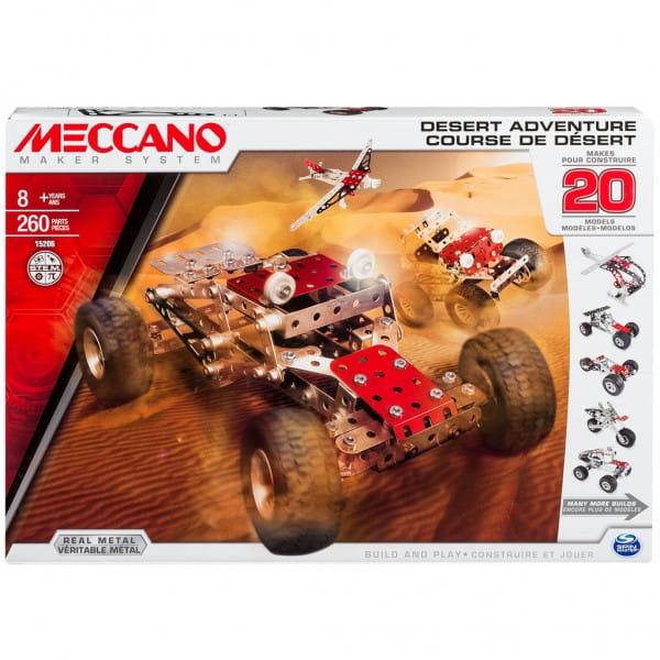 Конструктор Meccano 91775 Приключения в пустыне - 20 моделей