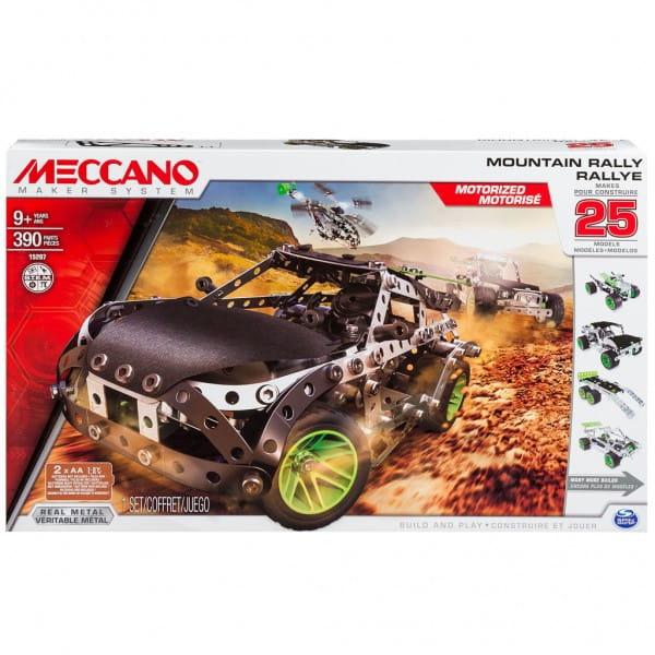 Конструктор MECCANO Раллийная машина с мотором - 25 моделей
