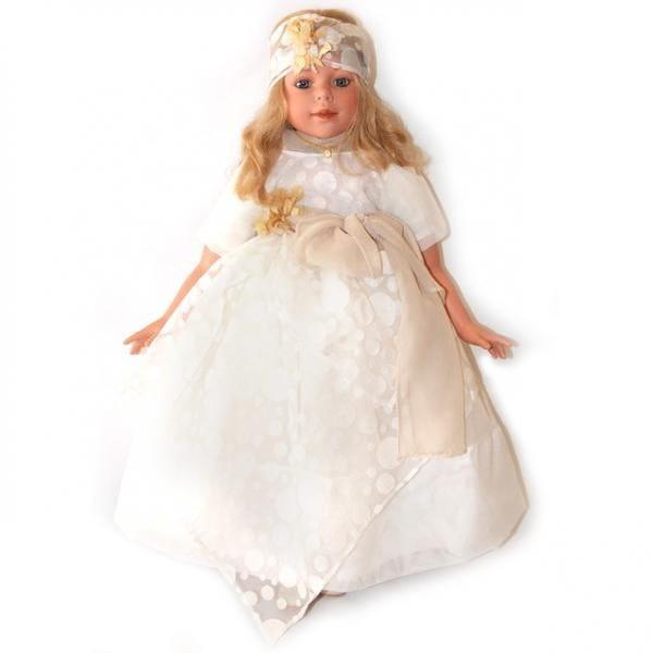 Купить Кукла Carmen Gonzalez Алтея - 80 см (в белом бальном платье) в интернет магазине игрушек и детских товаров
