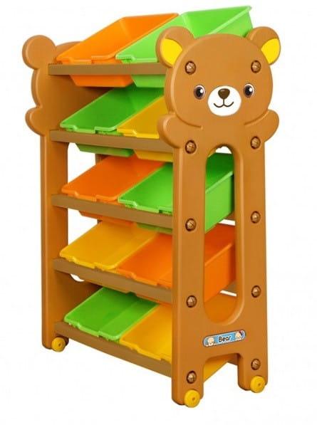 Игровой шкафчик-стеллаж Gona Toys Мишка (5 секций)