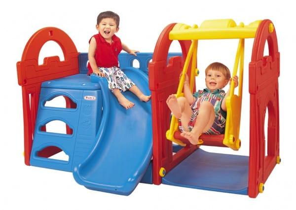 Купить Игровой центр Haenim Toy Дом с горкой и качелями 1 в интернет магазине игрушек и детских товаров