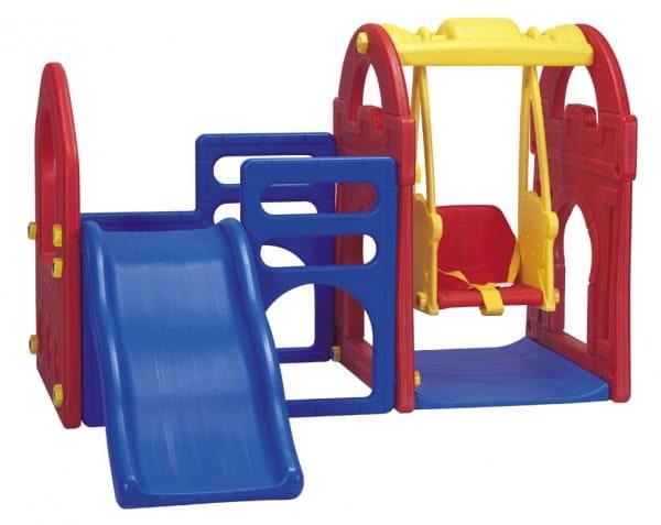Купить Игровой центр Haenim Toy Дом с горкой и качелями 2 в интернет магазине игрушек и детских товаров