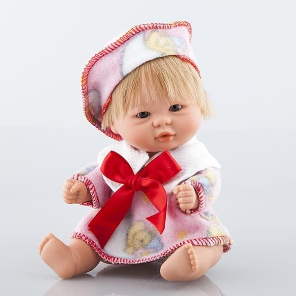 Купить Кукла Carmen Gonzalez Бебетин - 21 см (в плюшевой распашонке и берете) в интернет магазине игрушек и детских товаров
