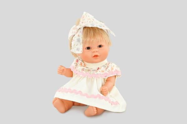 Кукла Carmen Gonzalez Бебетин - 21 см (в нарядном платье с бантом)