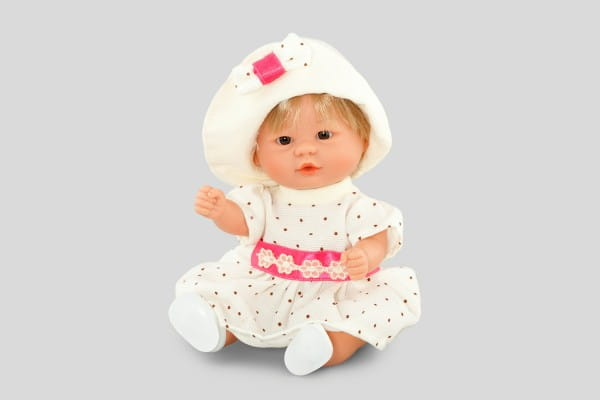 Кукла Carmen Gonzalez 12477 Бебетин - 21 см (в платье с крылышками и шляпке)