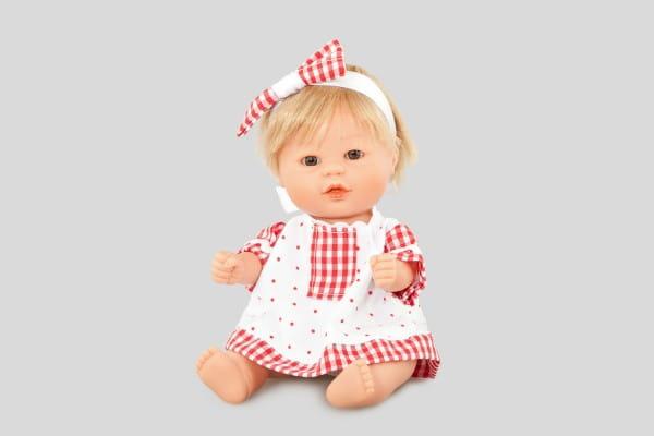 Кукла Carmen Gonzalez 12479 Бебетин - 21 см (в платье с красной клеткой)