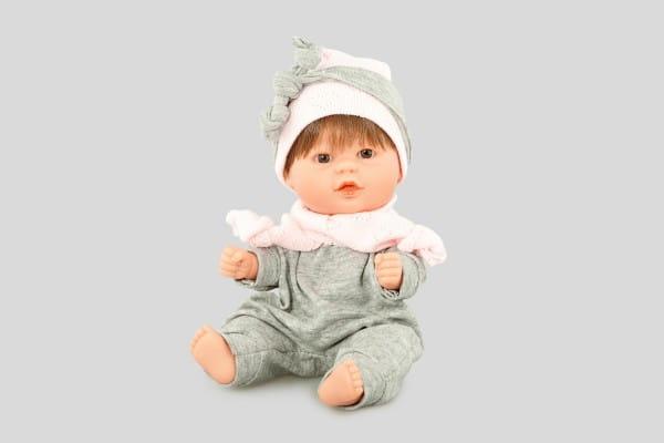 Кукла Carmen Gonzalez 12486 Бебетин - 21 см (в костюме с шапкой и шарфиком)