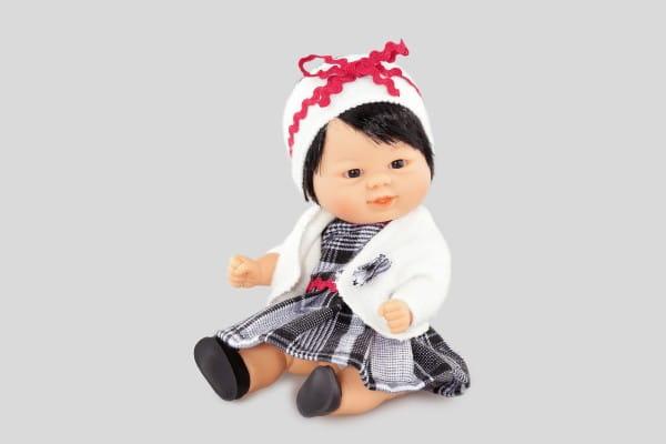 Кукла Carmen Gonzalez 12657 Бебетин - 21 см (в клетчатом платье и жакете)