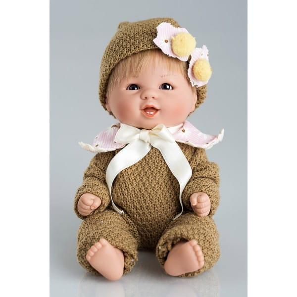 Кукла Carmen Gonzalez Бебетин - 21 см (в вязаном комбинезоне с шапочкой)