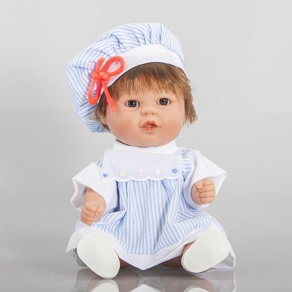 Купить Кукла Carmen Gonzalez Бебетин - 21 см (в полосатом платье и шляпке) в интернет магазине игрушек и детских товаров