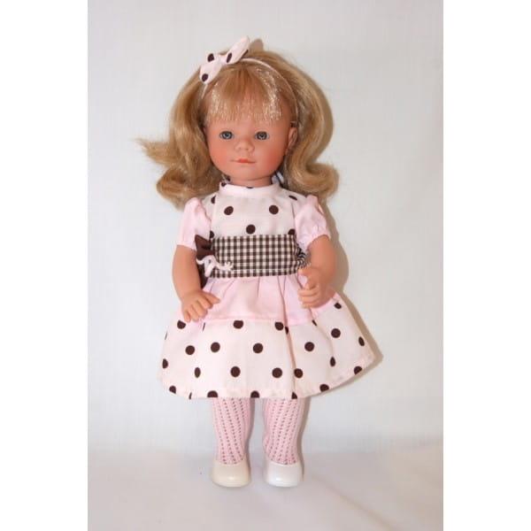 Кукла Carmen Gonzalez Мариэтта - 34 см (в платье с крупным горошком)