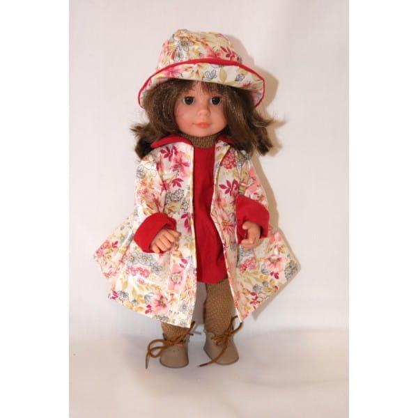 Кукла Carmen Gonzalez Мариэтта - 34 см (в цветочном плаще и шляпе)
