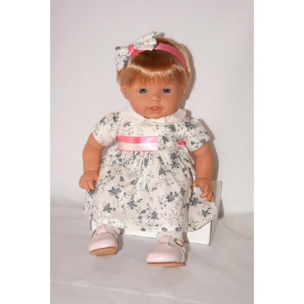 Купить Кукла Carmen Gonzalez Нила - 48 см (в платье с белым воротничком и розовых туфельках) в интернет магазине игрушек и детских товаров