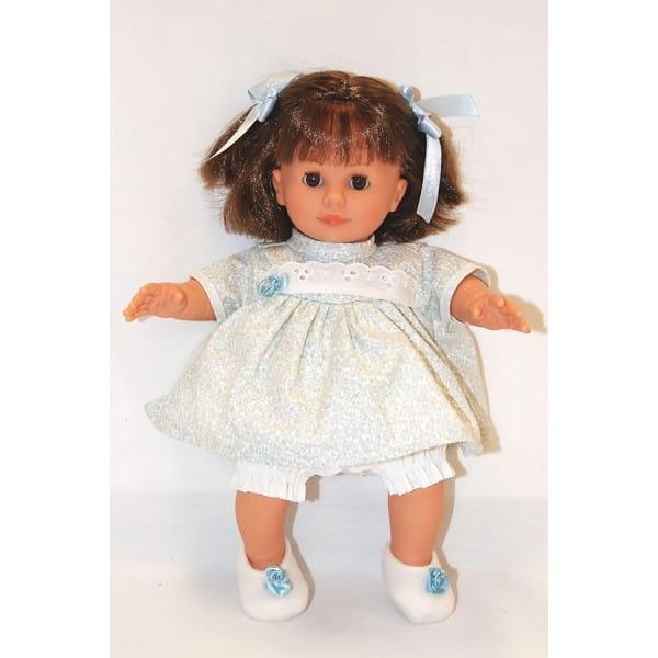 Купить Кукла Carmen Gonzalez Кико - 34 см (в голубом платье и пинетках) в интернет магазине игрушек и детских товаров