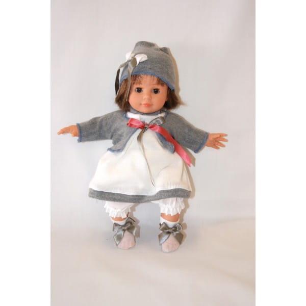 Купить Кукла Carmen Gonzalez Кико - 34 см (в вязаном платье с серой кофточкой) в интернет магазине игрушек и детских товаров