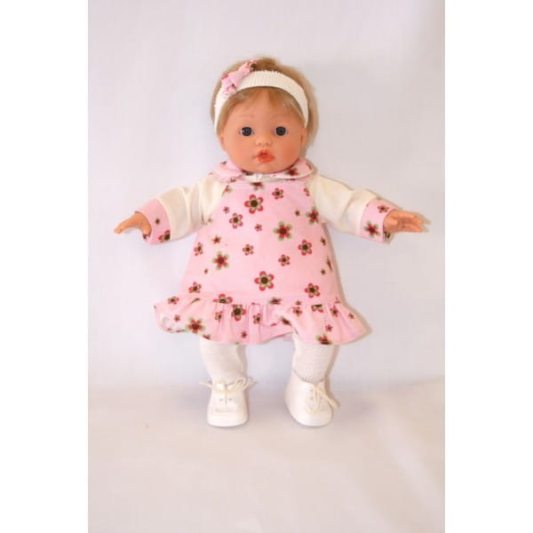 Купить Кукла Carmen Gonzalez Мончи - 34 см (в платье с оборкой и ботиночках) в интернет магазине игрушек и детских товаров