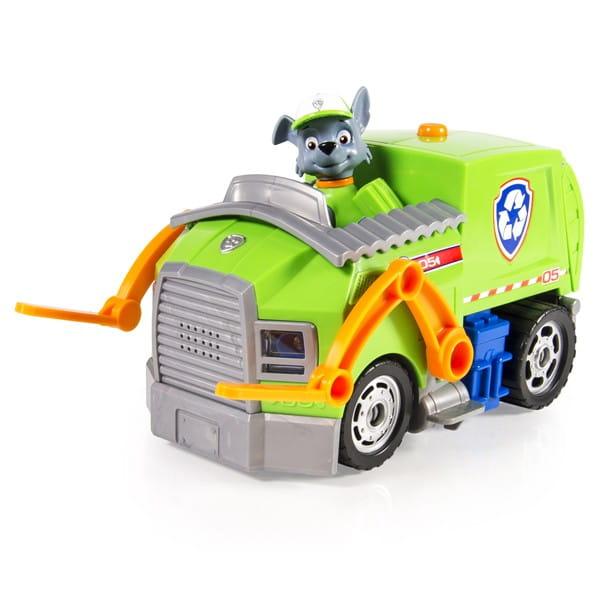 Большой автомобиль спасателя Paw Patrol Щенячий патруль - Погрузчик Рокки (со звуком и светом)