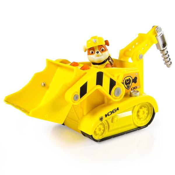 Большой автомобиль спасателя Paw Patrol Щенячий патруль Экскаватор Крепыша (со звуком и светом)