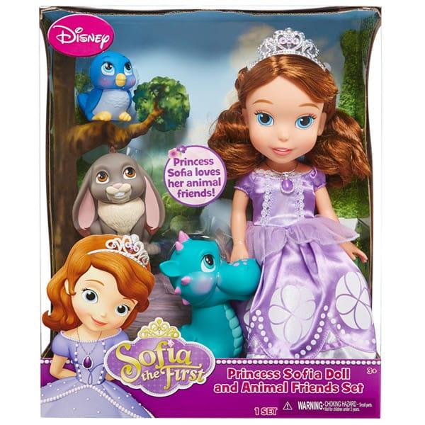 Игровой набор Disney Princess Принцессы Дисней София - 37 см (с 3 питомцами)