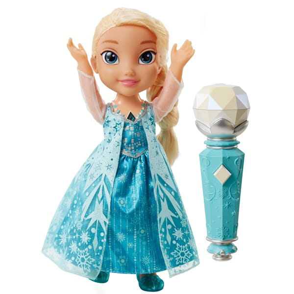Кукла Disney Princess Принцессы Дисней Эльза Холодное Сердце, поющая с микрофоном