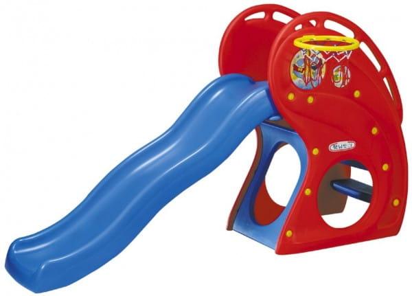 Купить Горка Haenim Toy Дельфин (с баскетбольным кольцом) в интернет магазине игрушек и детских товаров
